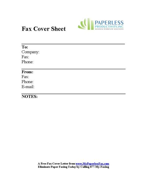 fax cover letter exles free sle color fax cover sheets my paperless fax