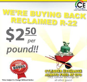 comfort products distributing r 22 buyback program comfort products