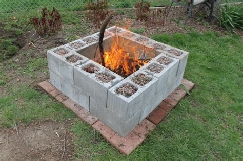 Outstanding Cinder Block Fire Pit Explode Design And Ideas Concrete Pit Exploding