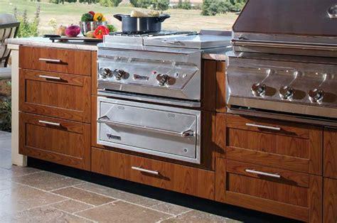 Kitchen Warming Drawer by Warming Drawer Grill Cabinet Brown Outdoor Kitchens