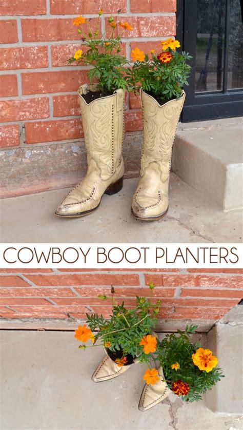 Garden Boot Planter by 7 Fantastic Diy Garden Boot Planters Garden Club