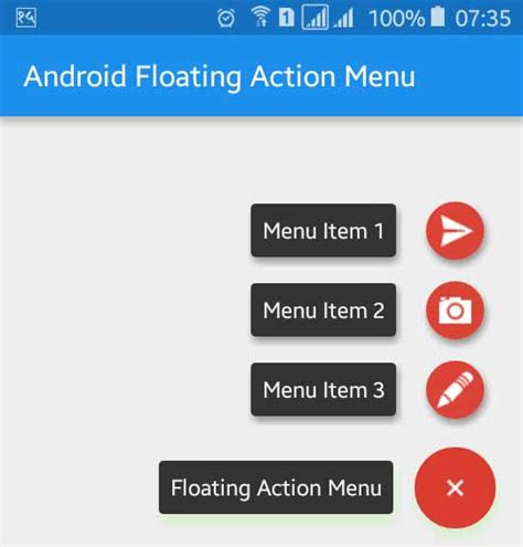 android studio floating layout android design support library expandable floating action
