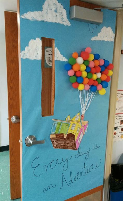 door decorations classroom door decor for spring quot up quot disney pixar