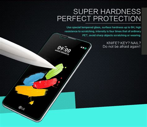 Nillkin Frosted Shield Lg Stylus 2 K520 nillkin amazing h tempered glass screen protector for lg stylus 2 k520
