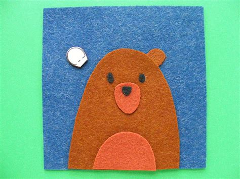 pattern felt bear felt craft free bear coaster pattern shiny happy world
