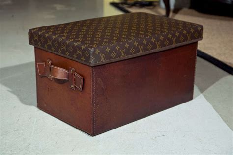 ottoman trunk vintage louis vuitton upholstered trunk or ottoman at 1stdibs