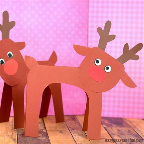 simple reindeer paper craft construction paper december