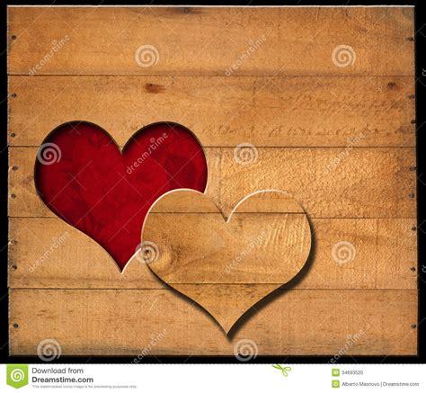 heart shape cut   wooden boards stock photo image