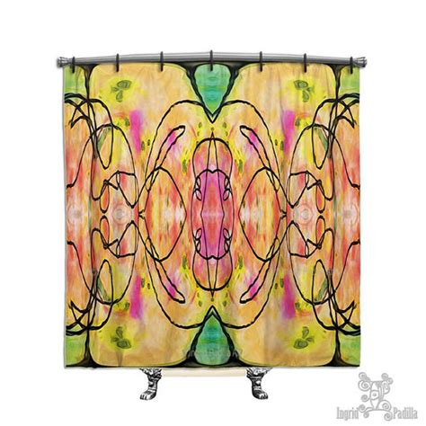 artsy curtains artsy shower curtain shower curtain abstract shower curtain