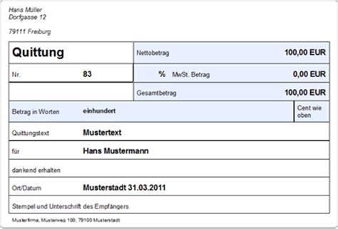 Word Vorlage Quittung Lexware Kassenbuch