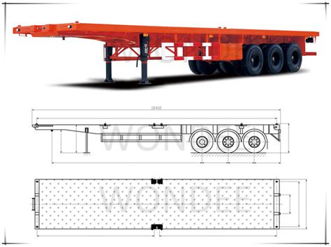 standard boat trailer axle width 3 axle 40t container truck trailer height buy container