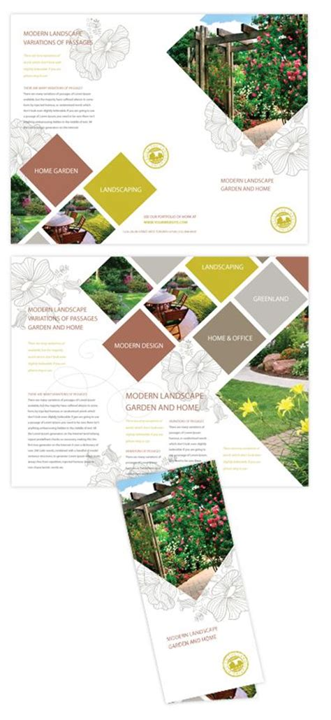 landscape brochure layout modern landscaping tri fold brochure triangle photos art