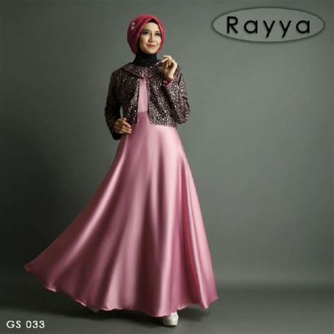 Gaun Pesta Warna Metalic Purple baju pesta satin rayya b009 gamis remaja modern