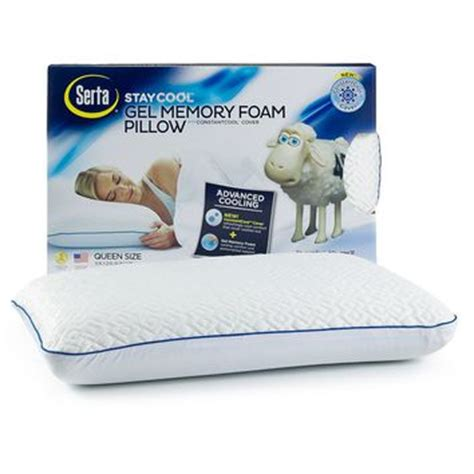 bed pillows that stay cool serta stay cool gel memory foam pillow from kohl s
