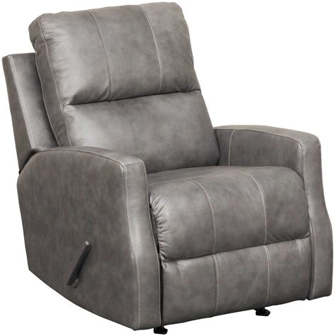 charcoal recliner gulfbay charcoal leather rocker recliner 4470025