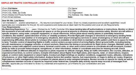 Letter Of Agreement Air Traffic air traffic controller cover letter sle template format