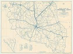 nacogdoches county historical map 1936