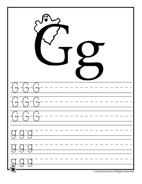 letter g worksheets learning abc s worksheets learn letter g classroom jr 1365