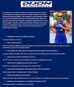 Calendrier Triathlon Le Dijon Triathlon Pr 233 Sente Ses Athl 232 Tes Pauline Purro
