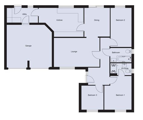 floor plan bungalow the beadnell ground floor 8639 house plan bedroom bungalow