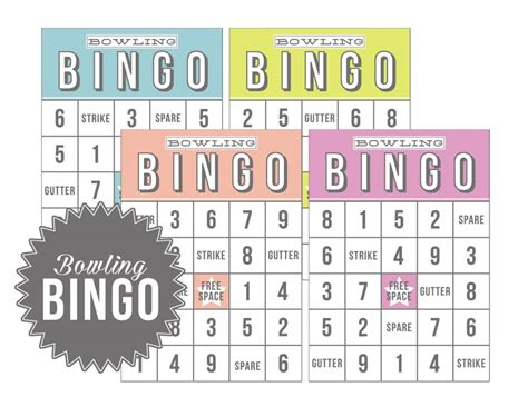Bowling Bingo Card Template by Bowling Bingo Free Eighteen25