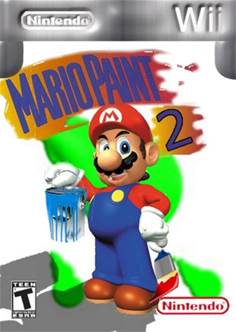 painting for wii mario paint 2 wii box cover by avatarofdeath