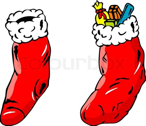 Decorations Home by Isolated Full And Empty Christmas Socks Vector Colourbox