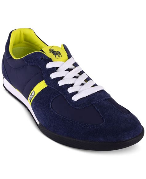 polo sneakers mens polo ralph s jacory newport sneakers in blue