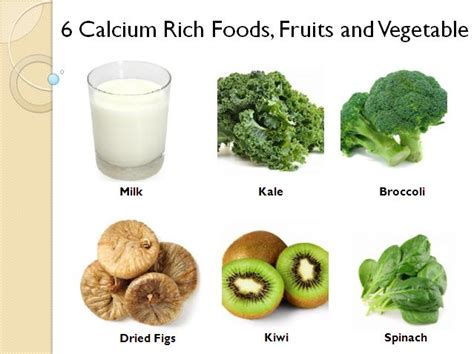 6 fruits in 6 calcium rich foods fruits and vegetable foods rich in
