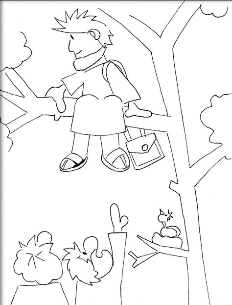 free printable coloring pages zacchaeus zacchaeus coloring page az coloring pages