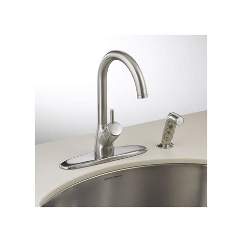 american standard kitchen faucets parts american standard 4147 001 single handle hi flow kitchen faucet with side spray from the