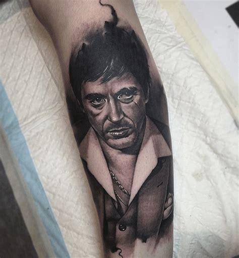 scarface tattoo designs benjamin laukis really captured al pacino s