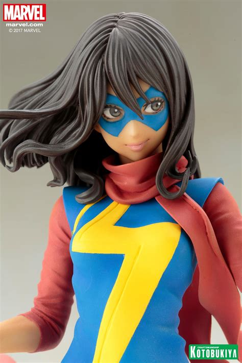 Kotobukiya Mk221 Ms Marvel Kamala Khan ms marvel kamala khan bishoujo statue by kotobukiya the toyark news