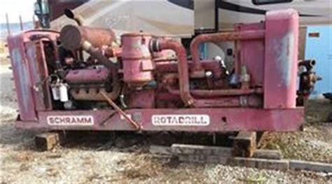 schramm 450 cfm 250 psi air compressor sold best used rebuilt machinery at east west drilling