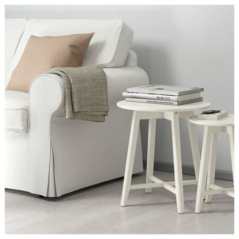ikea coffee table set kragsta nest of tables set of 2 white ikea