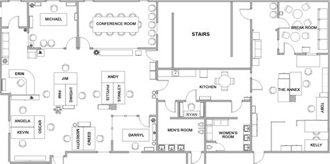 dunder mifflin floor plan ideas for using beacons in the office robin at work