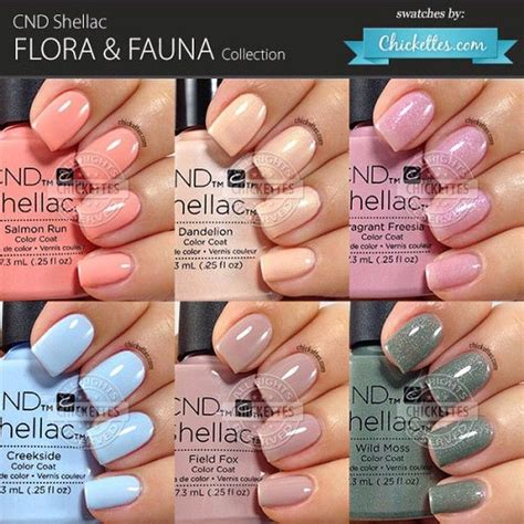 shellac nail colors cnd shellac flora fauna collection swatch by