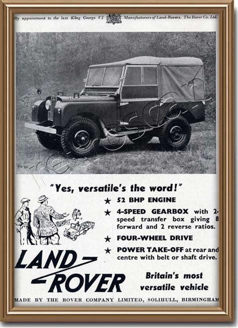 vintage land rover ad 1952 land rover magazine ad retrofair