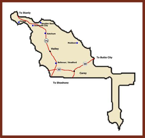 Blaine County Property Records Blaine County Idaho Map Map