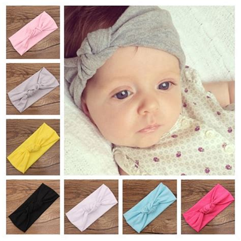 baby headband or the new fashion trend versatile fashions 2016 baby tie knot headband knitted cotton children