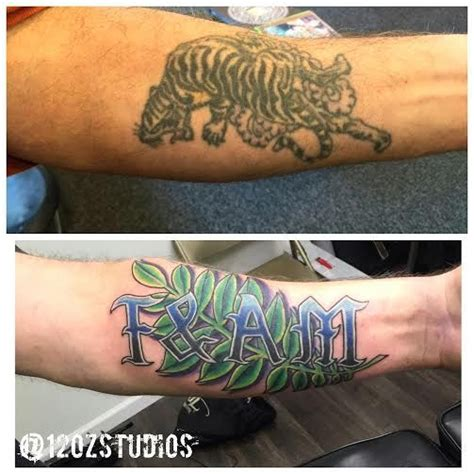 Lettering Cover Up fantastic cover up of an tiger with lettering and