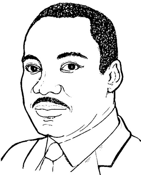 coloring page of dr king mlk coloring book martin luther king jr pages activities