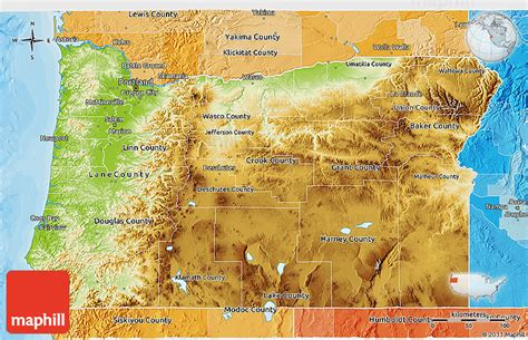 a political map of oregon physical 3d map of oregon political shades outside
