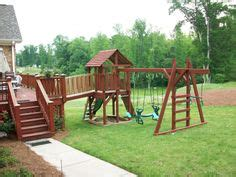second hand swing set kid s slide from a second story deck easy to install and