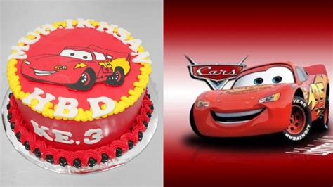 lightning mcqueen cars cake decoration easy