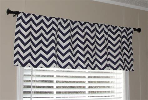 Navy Blue And White Valance Premier Prints Navy Blue And White Chevron Valance 50