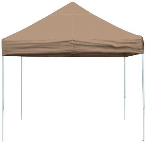 10x10 Awnings Canopies 10x10 Pro Series Pop Up Canopy Desert Bronze