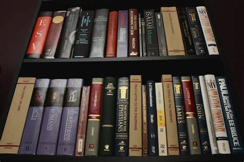 pictures of my library of christian books scripture
