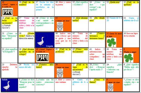lespagnol est un jeu christine nous envoie un jeu de l oie pour revoir la pr 233 sentation les phrases utiles en classe