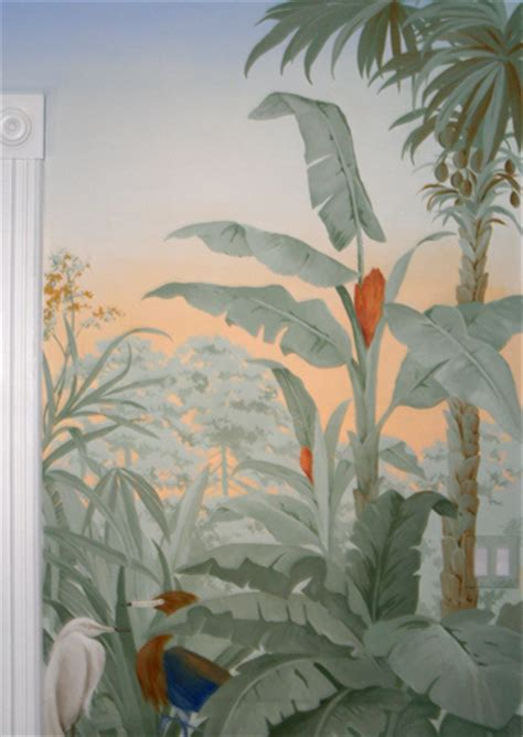Dining Room Wall Murals tropical mural